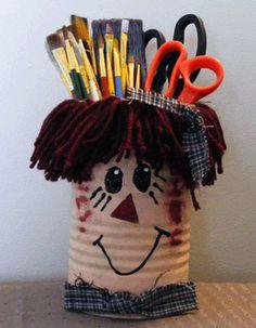 Raggedy Ann Pencil Can