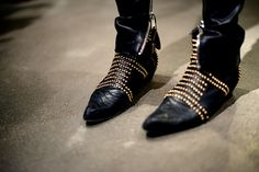 Gold & black beautie booties