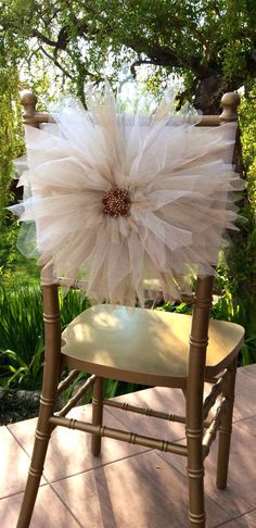 Wedding chair coverbeautiful flower decoration by FloraRosaDesign, Ft7500.00