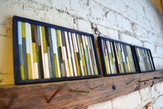 Coffee Stirrer Wall ArtHow many times have you thrown those unused coffee stirrers away in the bin? Not anymore, as you need to save up every coffee stirrer you can get for this easy art addition. Along with them, grab a wooden frame and a few colors of your choice and you have an inimitable art addition ready to adorn the walls of your home.