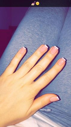 Pin on Pretty French Nails Pin on Pretty French Nails French Tip Acrylic Nails, French Manicure Nails, Cute Acrylic Nails, Squoval Acrylic Nails, Acrylic Nail Tips, Dream Nails, Love Nails, Pretty Nails, My Nails