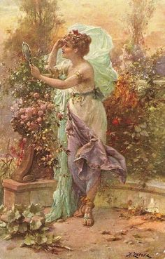 Austrian artist Hans Zatska (Hans Zatzka). I speak today with his angels .... Discussion on LiveInternet - Russian Service Online diary