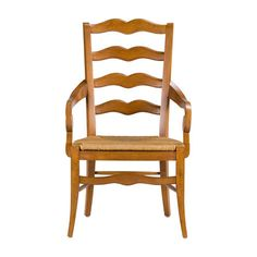 French provincial style takes a front-row seat with our handsomely crafted Chapelle chair. The gentle antique-inspired curves of the back rail offers timeless sophistication to today  Chapelle Armchair, woven seat, $350.10 Ethan Allen