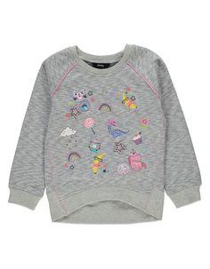 Embellished Patterned Sweatshirt | Kids | George at ASDA