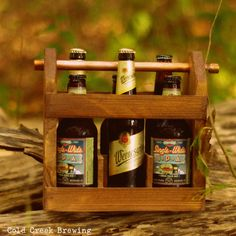 Best Man Gift - Wooden Six Pack Carton - Beer - Beer Caddy - Husband Gift - Gift for Dad - Groomsmen Gift. $45.00, via Etsy.