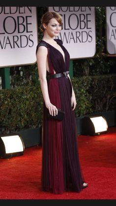 Ema Stone Golden Globes 2012