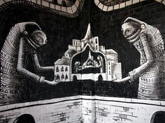 Beautiful Pictures: Graffiti Pictures - Mesmerising #Cartoon Graffiti By #Phlegm
