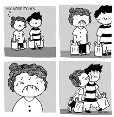 Artist's Hilariously Relatable Illustrations Show The Miseries Of Life As A Couple Cute Comics, Funny Comics, Love Art, My Love, Couples Comics, Couple Illustration, Beard Love, Funny Relatable Memes, First Love
