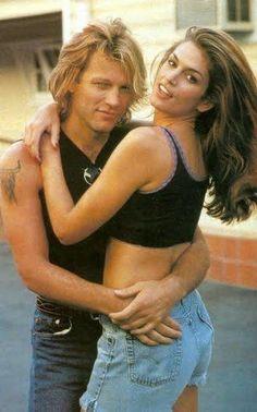 Bon Jovi + Cindy Crawford