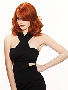 Natalya, coupe de cheveux femme, carré glamour mi long roux PE 2013 #hair #ShampooExpert