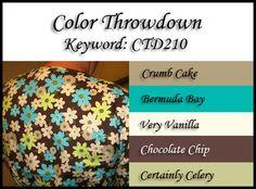 Color Throwdown #210: Crumb Cake, Bermuda Bay, Very Vanilla, Chocolate Chip, Certainly Celery