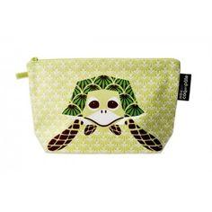Trousse coton bio by Mibo pour Coq en Pâte Pencil case with turtle designed by Mibo for Coq en Pâte #pencilcase #trousse #saveourspecies #sos #mibo #turtle #tortue