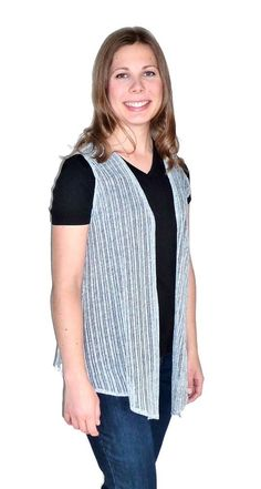 Delicate light gray flyaway cardigan