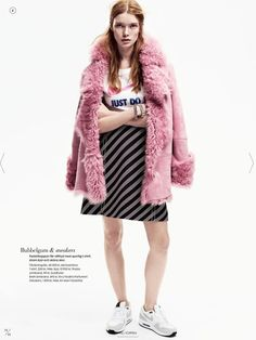 pink fur nike #pixiemarket