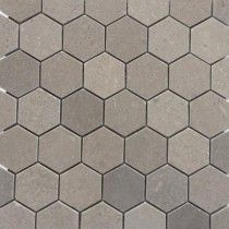Lady Gray Honed 2 Hexagon Marble Tile
