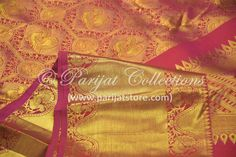 Pure kanchi silk saree with pure jari.... weaved with intricate design www.parijatstore.com