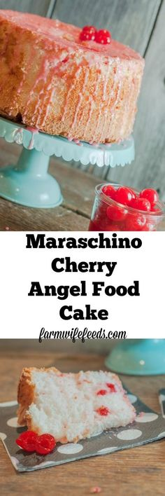 This cake, this Maraschino Cherry Angel Food Cake is so fluffy and sweet and cherry flavored and so super easy you might make it twice in 3 days! Easy Cake Recipes, Cupcake Recipes, Easy Desserts, Dessert Recipes, Dessert Ideas, Ark Recipes, Simple Recipes, Easter Recipes, Shrimp Recipes
