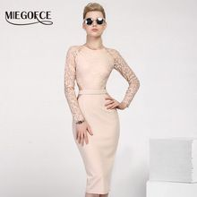 New Design MIEGOFCE 2017 Summer Women Dresses to The Knee Fashion Spring Female Casual Office Pencil Dresses Fitted Hot Selling(China (Mainland))