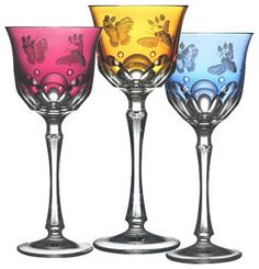 Varga Art Springtime crystal glassware - traditional - cups and glassware - Gracious Style
