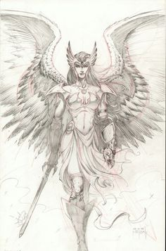 Hawkgirl - Angel by on DeviantArt-Hawkgirl – Angel by on DeviantArt deviantart+worrior+angel+images Norse Tattoo, Viking Tattoos, Armor Tattoo, Fantasy Kunst, Fantasy Art, Drawing Sketches, Art Drawings, Valkyrie Tattoo, Warrior Tattoos