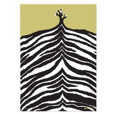 This silkscreen printed poster was designed by artist Kustaa Saksi to celebrate 75 years of Artek. Depicting a hillside, a single tree against the Zebra Print, Animal Print Rug, Scandinavian Home Interiors, Scandinavia Design, Poster Online, The Longest Journey, Textiles, Higher Design, Monochrom