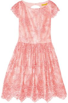 Alice + Olivia Zenden embroidered lace mini dress | NET-A-PORTER