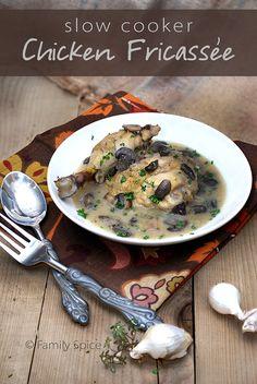 Slow Cooker Chicken Fricassée