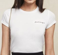 Reformation Feelings Tee in White as seen on Shay Mitchell