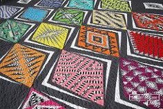 Empire Place in Cotton Coutures (Paper Pieced Quilts and Blocks {Foundation and English} Pool) Empire, Quilting Projects, Quilting Ideas, Black And White Prints, Foundation Paper Piecing, Little Elephant, Diamond Quilt, Couture, Baby Quilts
