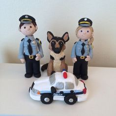 Customized Police Officers Cake Toppers