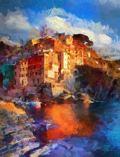 by artist Tzviatko Kinchev  born in Sofia, Bulgaria and  an extraordinary talented young man, studying in The National Academy of Arts and also working for Haemimont Games as an 2D artist. Check out his works and how he uses a great colorful palette of warm colors.