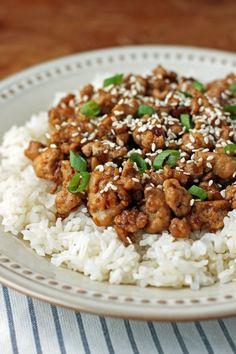 Korean-Inspired Ground Turkey - Emily Bites Ww Recipes, Asian Recipes, Dinner Recipes, Healthy Recipes, Ethnic Recipes, Healthy Meals, Advocare Recipes, Asian Desserts, Healthy Habits
