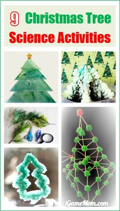 Christmas Tree Science Activities for Kids and Family, great STEM project ideas for the holiday season, that kids of all ages will love.