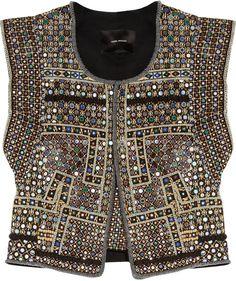 ISABEL MARANT Wolf Embellished Cotton Vest