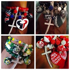 Kandy Bracelets paints and makes ...One of a Kind Jewelry...Rock your favorite Team,Sorority, Cartoon ...Name Designs all of my work is #teamwristgame....  My logos and designs are Hand Painted..The Wristgame is my design.....All orders are invoiced to be paid through paypal or mailed money order. Payments must be made before your items are made.