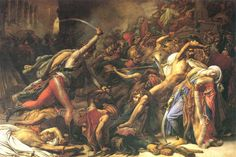 La Révolte du Caire, le 21 octobre 1798 [The Revolt of Cairo] (Anne-Louis Girodet de Roussy-Trioson, 1810). Featured on: ARGHOSLENT - Hornets of the Pogrom. (In 1798 October, an uprising by the people of Cairo surprised the French forces. Excited by the sheikhs and imams, the Egyptians swore by the Prophet to exterminate all Frenchmen. Via Napoleon's orders the Arabs were beaten back into the desert and the artillery was turned back on the rebel city.) *