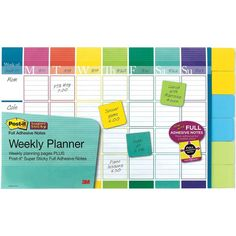 Post-it Calendar, Multi-Colored ($11) ❤ liked on Polyvore featuring home, home decor and stationery