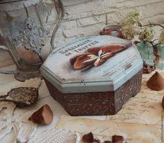 """Купить Короб """"Mint truffle"""" - мятный, трюфель, шоколад, мята, ретро, короб, винтаж, подарок"""