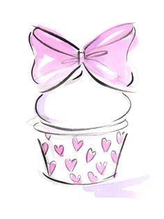 I'm learning all about Trademark Fine Art Jennifer Lilya - Cupcake 6 - Canvas Art at Cupcake Drawing, Cupcake Art, Cupcake Logo, Artist Canvas, Canvas Art, Cupcake Illustration, Clip Art, Pink Cupcakes, Face Cleanser