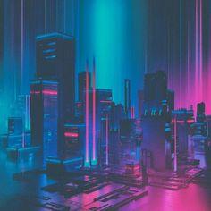 vaporwave paisagem Fragments of a Hologram Dystopia Cyberpunk Aesthetic, Cyberpunk City, Neon Aesthetic, Cyberpunk 2077, Futuristic City, Vaporwave, New Retro Wave, Retro Waves, Main Manga
