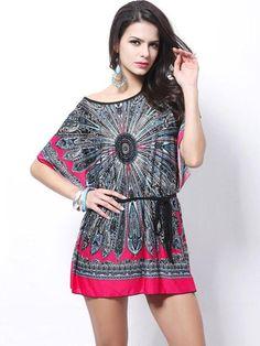 275a66acebd Geometric Style Floral Print Dress. Stay Boho