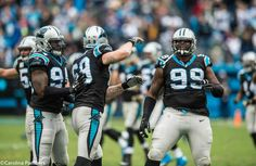 DE Kony Ealy, DE Jared Allen and DT Kawann Short