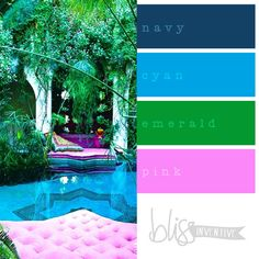 INSTANTLY HAPPY & RELAXED NAVY / CYAN / EMERALD / PINK