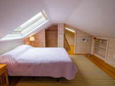 Pickled wood, skylights