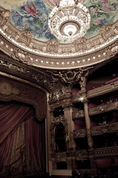 The evening I definitely was looking forward to, to watch a performance of Opéra Paris in this magnificent grand building. Theater Architecture, Baroque Architecture, Concept Architecture, Charles Garnier, Paris Opera House, Gaston Leroux, Music Of The Night, My Sun And Stars, Princess Aesthetic