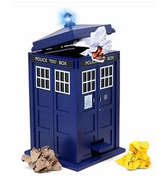 Doctor Who Tardis Flip Top Waste Bin With Lights And Sound   Click Image To  Close