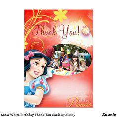 Snow White Birthday Thank You Cards