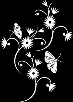 Materiales gráficos Gaby: Varias plantillas de mariposas para decorar una pared
