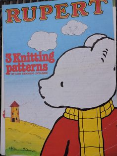Rupert the Bear Sweater Bill the Badger Edward Trunk Children & Adult's Gary Kennedy 3 Knit PATTERN No 3335 Knitting Patterns Cool Patterns, Cross Stitch Patterns, Knitting Patterns, Crochet Patterns, Fashion Patterns, Costume Patterns, Badger, Knit Crochet, Men's Fashion