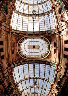 Arcade Ceiling Fisheye View: Leeds Victorian Quarter